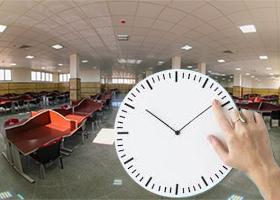 زمان استفاده از سالنهای مطالعه در ایام امتحانات
